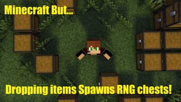 Minecraft But... Dropping items spawns rng chests! Minecraft Data Pack