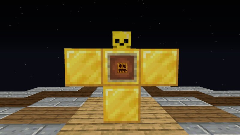 Golden Iron Golem Layout Plus Block Needed In Item Frame