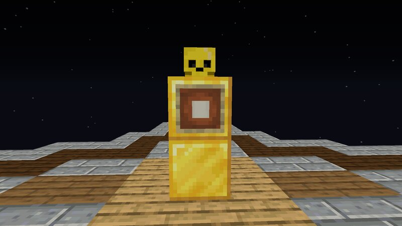 Golden Skeleton Layout Plus Block Needed In Item Frame