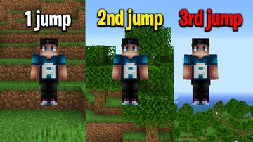 Minecraft But You Jump Higher For Every Jump Minecraft Data Pack