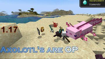 Axolotl's are OP! Minecraft Data Pack