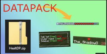 Show Player Health Minecraft Data Pack