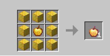 Craftable Notch Apples Minecraft Data Pack