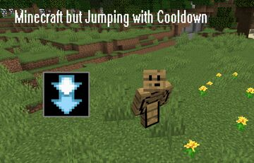Minecraft but jumping with Cooldown Minecraft Data Pack