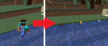 Minecraft BUT walking on water gives you valuable resources Minecraft Data Pack