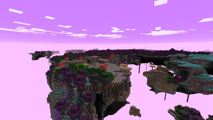 The Mushroom Fields and Sky Forest