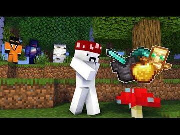 Minecraft, but Mushrooms Drop Op Loot Minecraft Data Pack