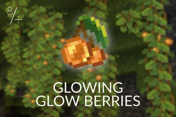 Glowing Glow Berries Minecraft Data Pack