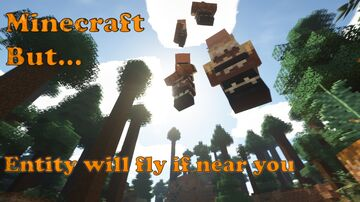 Minecraft but entity will fly if you approach it   Bisa Terbang! Minecraft Data Pack