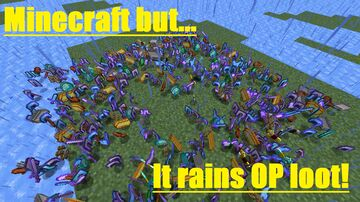Minecraft But... Rain is OP! Minecraft Data Pack