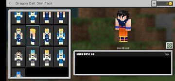 Skin pack dragonball (bedrock edition) Minecraft Data Pack