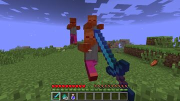 Minecraft But Dealing Damage Gives OP Items!! Minecraft Data Pack