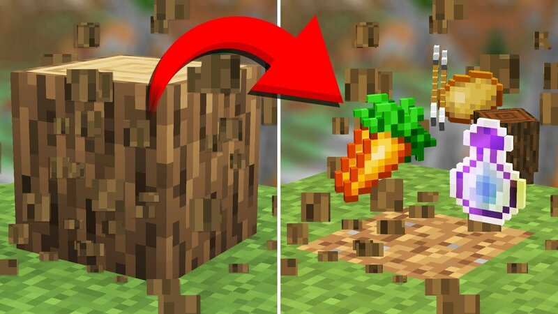Minecraft but loot are randomized