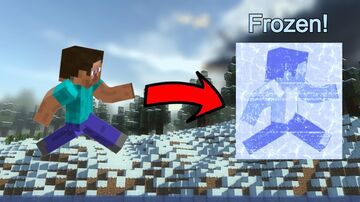 Minecraft, but mobs freeze every minute! Minecraft Data Pack