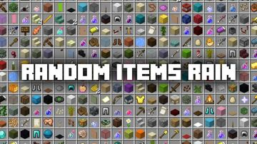 Minecraft, but random items fall from the sky! Minecraft Data Pack