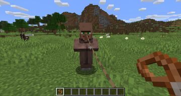 Leashable VIllagers Minecraft Data Pack