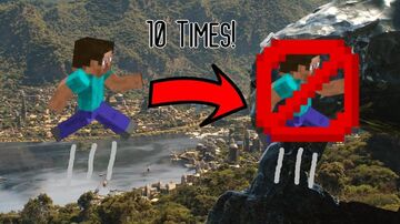 Minecraft, but you can only jump 10 times Minecraft Data Pack