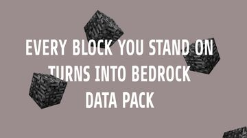 EVERY BLOCK YOU STAND ON TURNS INTO BEDROCK DATA PACK Minecraft Data Pack