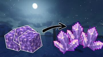 Amethyst Block But Drop Amethyst Cluster Datapack 1.17v Minecraft Data Pack