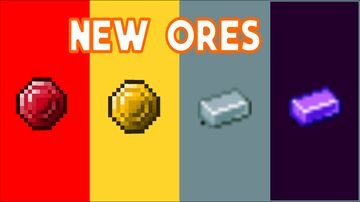 So I added 4 new ores to minecraft Minecraft Data Pack