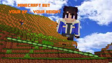 MINECRAFT BUT YOUR XP=YOUR HEIGHT Minecraft Data Pack