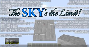 The Sky's the Limit! [Build Limit Height 2000] Minecraft Data Pack