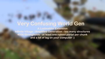 Very Confusing World Gen - A Lushnabler Extension Minecraft Data Pack