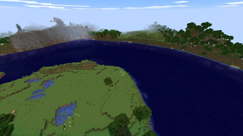 A river cuts through a continent. Salmon, squid, and drowned fill the river as usual.