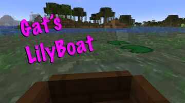 LilyBoat- no more boats picking up lily pads Minecraft Data Pack