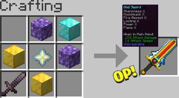OP Sword! Minecraft Data Pack