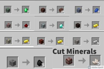 Cut Minerals Minecraft Data Pack