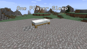 One Player Sleep for SMP servers Minecraft Data Pack