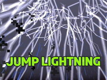 Minecraft but you have 50% chance get struck by Lightning when you Jump. (FIXED) Minecraft Data Pack