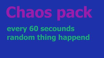 Chaos pack Minecraft Data Pack