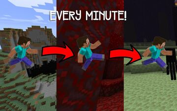 Minecraft, but you swap dimensions every minute! Minecraft Data Pack