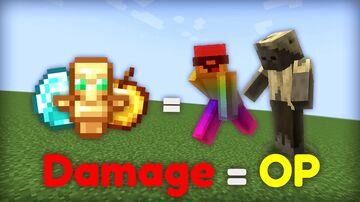 Minecraft, but damage = OP Loot Minecraft Data Pack