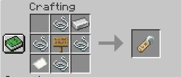 Name Tag recipe Minecraft Data Pack