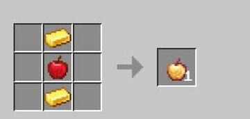 Craftable Notch Apples But The Recipe Is Super EZ Minecraft Data Pack
