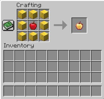 Craftable Enchanted Golden Apples! Minecraft Data Pack