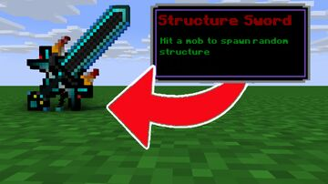 Minecraft, But There Are Custom Swords Minecraft Data Pack