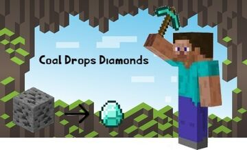 Minecraft, but Coal Drops Diamonds Minecraft Data Pack