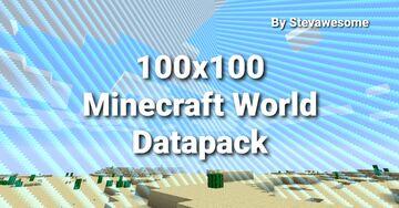 How to Make A 100x100 Minecraft World!! Minecraft Data Pack