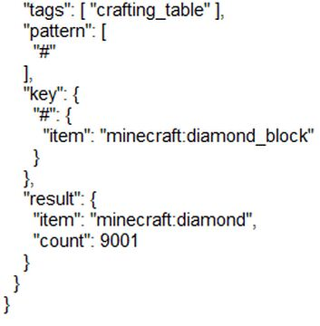 The data pack because I posted it in the wrong category! Minecraft Data Pack