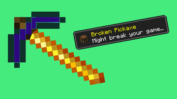 Minecraft but there is a Broken Pickaxe! [V2] Minecraft Data Pack