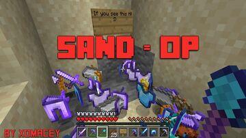 Minecraft, But Sand can drop OP Loot 2.0! Minecraft Data Pack