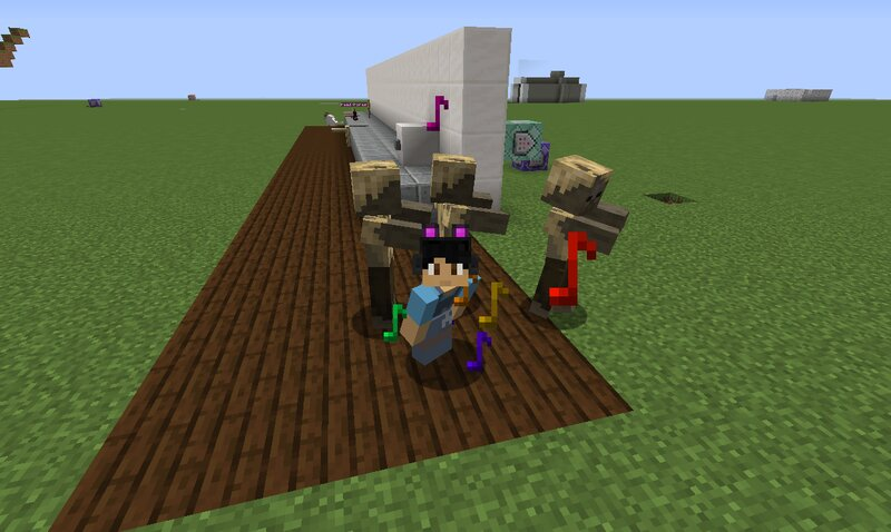 Mobs around you will jump up and down and vibe to the beat while you sneak.