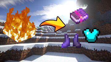Minecraft but fire drops op loot Minecraft Data Pack