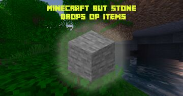 Minecraft But Stone Drops OP Items - Fluctuating Worm Minecraft Data Pack