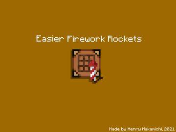 Easier Firework Rockets Minecraft Data Pack