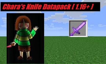 Chara's Knife (Glitchtale) Minecraft 1.16 Minecraft Data Pack